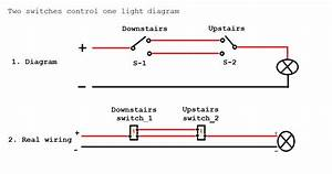 Two Switch One Light Wiring Diagram