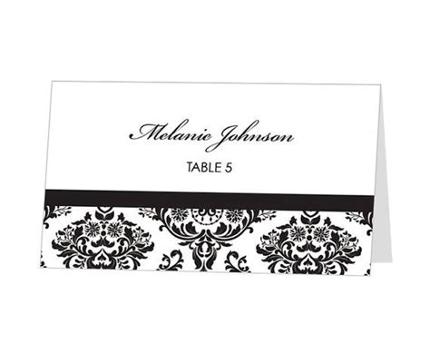 free templates for tent place cards instant avery place card template damask
