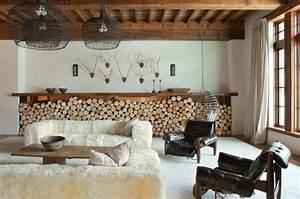 Deco Melange Rustique Et Moderne : salon style rustique moderne 36 exemples ~ Melissatoandfro.com Idées de Décoration