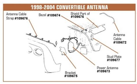Corvette Power Antenna For Convertible
