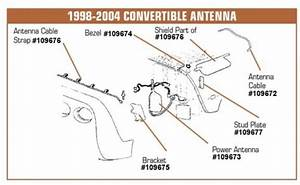 C5 Corvette Power Antenna For Convertible  1998