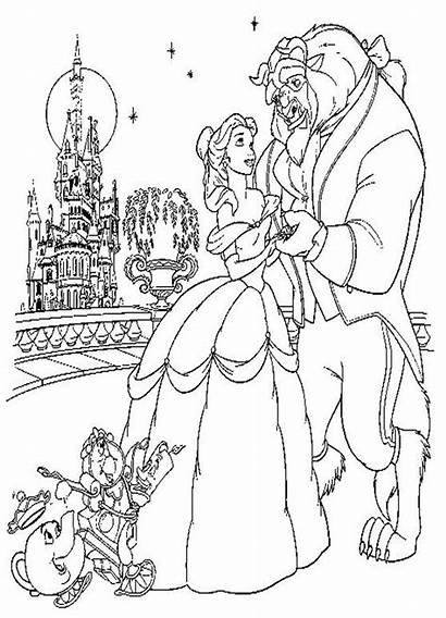 Beast Coloring Beauty Pages Disney Colouring Belle