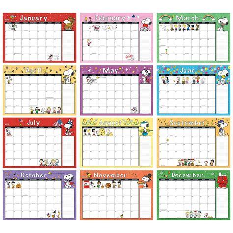 peanuts calendar pad colorful images