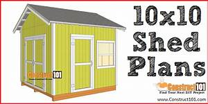 Free Shed Plans - With Drawings - Material List