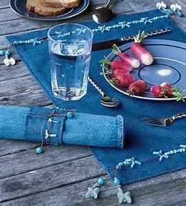 Set De Table : set de table et rond de serviette en jean marie claire ~ Teatrodelosmanantiales.com Idées de Décoration