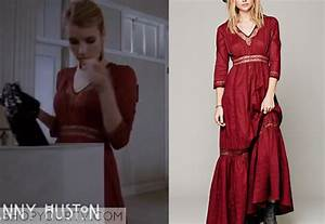 Madison Montgomery (Emma Roberts) wears this red victorian ...