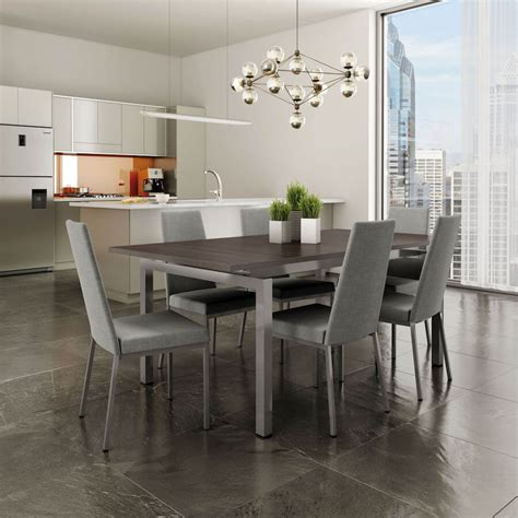 zoom extendable metal dining table vancouver  burnaby