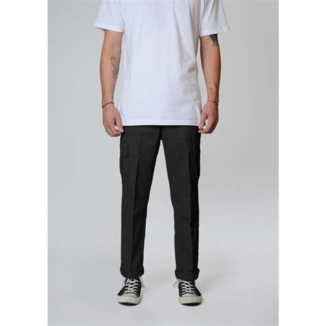 DICKIES 594 Slim Straight Cargo Pants - Black Wanted ...