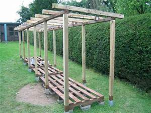 Gartenhaus Mit Holzlager : dachsparren anbringen garten pinterest holzlager holzunterstand und brennholz ~ Whattoseeinmadrid.com Haus und Dekorationen