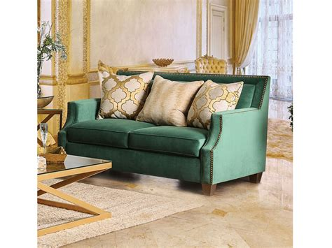 Verdante Emerald Green Sofa Set
