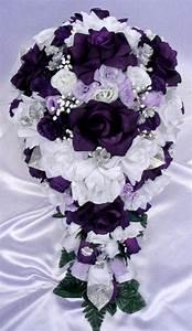 Free Shipping 21 Pcs Wedding Silk Flower Bouquet Bridal ...