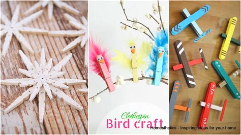 clothespin crafts 37 ingeniously creative clothespin crafts for your home homesthetics inspiring ideas for