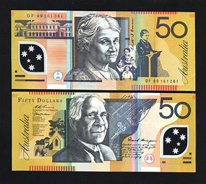 AUSTRALIA $50 P54B 1999 DRAWING POLYMER UNC CURRENCY MONEY ...