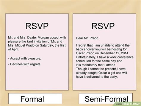 Rsvp Template For Event How To Rsvp With Sle Rsvp Notes Wikihow