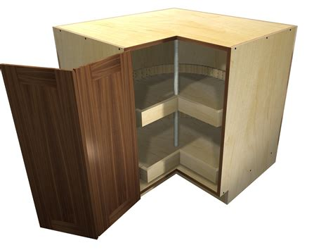 Home Depot Unfinished Cabinets Lazy Susan by 90 Degree Base Cabinet With Wood Lazy Susan