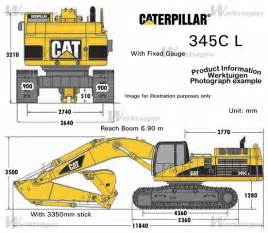 cat excavator sizes caterpillar 345c l caterpillar machinery