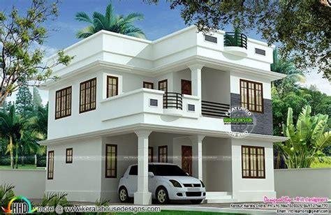 sq ft cute double storied house bungalow house design kerala house design simple house