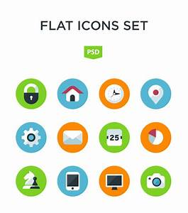 Flat app icons psd set - Application Icons free download