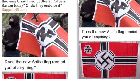 Why Does The Antifa Flag Mimic The Nazi Flag?