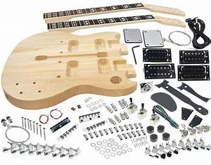 Solo Sg Style Diy Guitar Kit  Double Neck Basswood Body