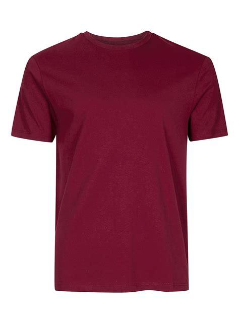 burgundy t shirt s burgundy slim fit t shirt multi buy deals sale topman