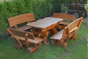 Holz Sitzgruppe Garten Massiv : rustikale gartenm bel holz massiv sitzgruppe tisch bank esche ebay ~ Eleganceandgraceweddings.com Haus und Dekorationen