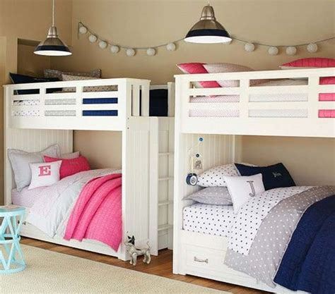 By tucking the beds into a corner, you'll free up plenty of floor space. 21 Smart and Creative Girl and Boy Shared Bedroom Design Ideas