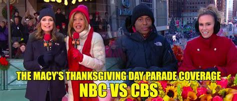 macys thanksgiving parade coverage  nbc cbs