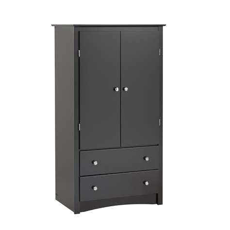 Armoire Black by Black Sonoma 2 Door Armoire Kitchen Dining