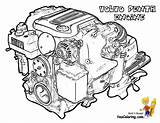 Coloring Boat Engine Volvo Pages Yescoloring Motor Penta V6 Fishing Sheet Speed Rugged Boats Ship sketch template