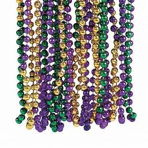 Tri-Color Mardi Gras Beads - Oriental Trading