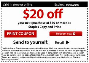 Staples Copy And Print Canada Deal  Save  20 Off  50 Using