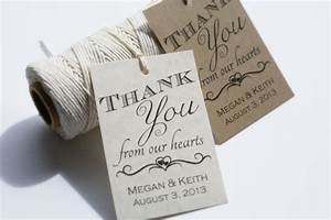 printable wedding favor tags personalized wedding favor With personalized thank you tags for wedding favors