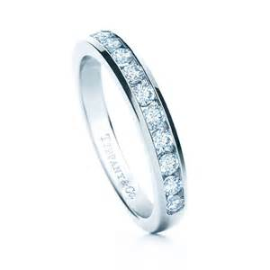 circle wedding ring co celebration platinum half circle channel set wedding band