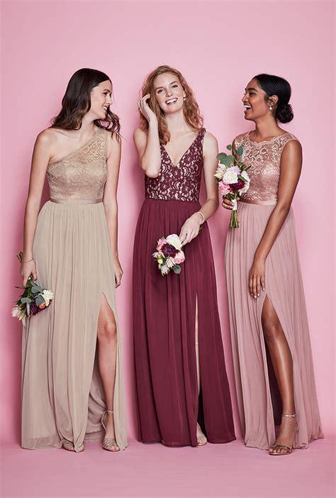 mismatched bridesmaid dress styles davids bridal