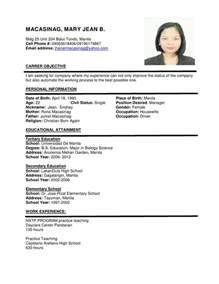 latest resume format 2017 philippines 16 free resume templates excel pdf formats