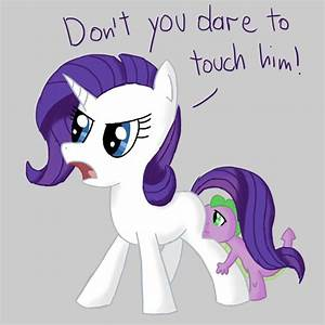 Filly Rarity and baby Spike less than three | My Little ...