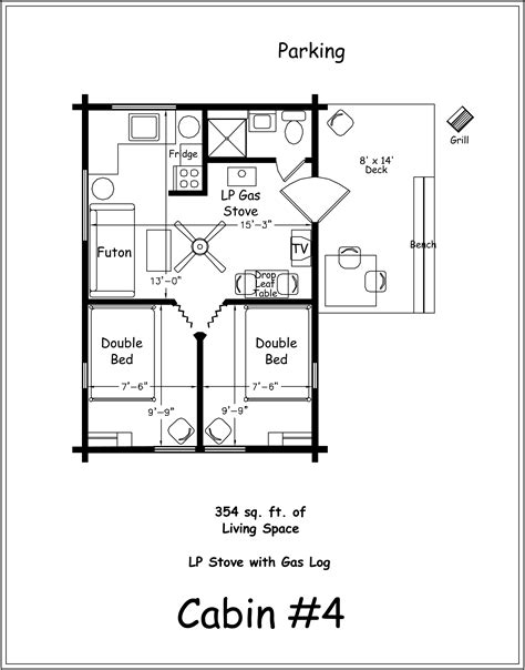Cabin Floor Plans by Archer S Poudre River Resort Cabin 4