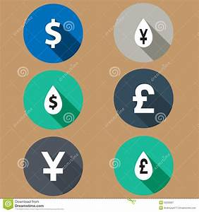 Investment Long Shadows Icon Set Vector Illustration ...