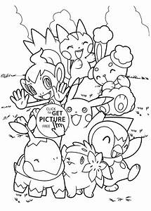 Pokemon Characters Anime Coloring Pages For Kids