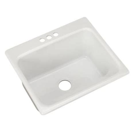 Thermocast Sink Home Depot by Thermocast Kensington Drop In Acrylic 25 In 3 Single