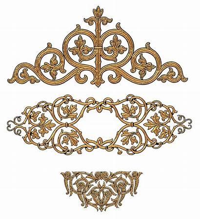 Clipart Filigree Decorative Decoration Gold Scroll Transparent