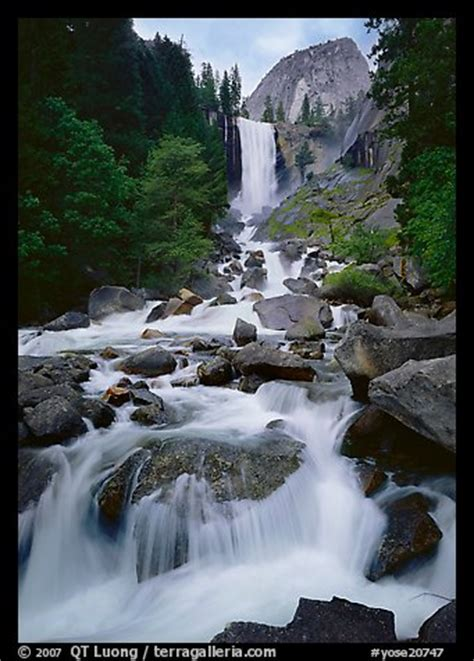 Picture Photo Vernal Fall Downstream Cascades