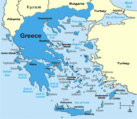 map  greece maps  greek islands