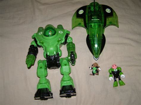 imaginext dc friends green lantern robot jet and
