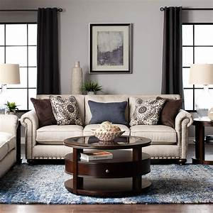 Beige, Sofa, And, Loveseat