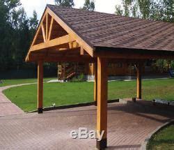 prefab heavy timber frame carport    vehicles cars engineered wood canopy