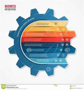 Vector Business And Industry Gear Style Infographic