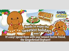 Webkinz Gingerbread Elephant – Come Home For the Holidays