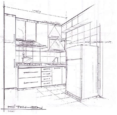 kitchen cabinet drawing